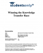 Winning the Knowledge Transfer Race Samenvatting